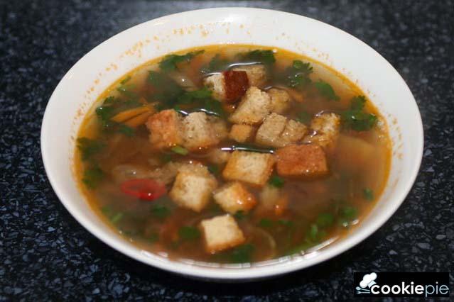 Постный бобовый суп