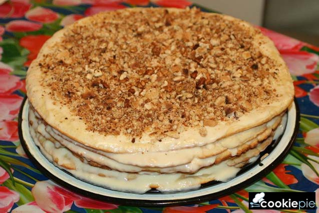 Торт с творожными коржами