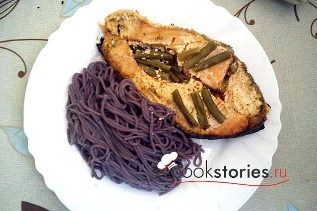 Печёные стейки лосося