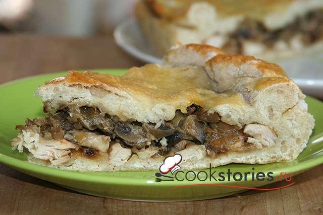 Курник с курицей и грибами