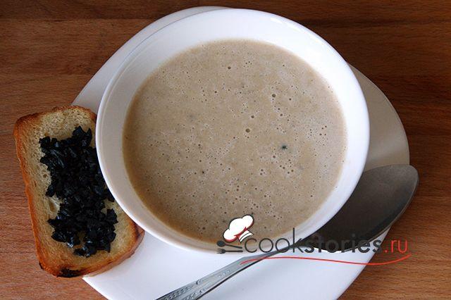 Чесночный крем суп