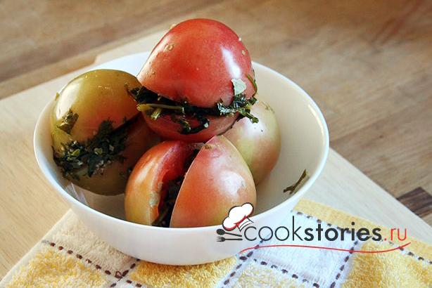 Зелёные помидоры квашеные