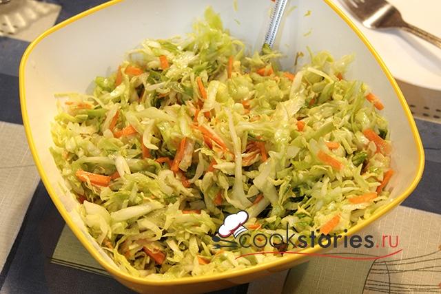Рецепт салата с молодой капустой